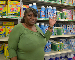 Photo of Sharon at The Dollar Tree - Work with Chrysalis