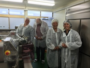 Visiting the cookie production factory. Very efficient and delicious!