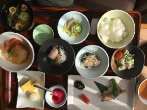 Japanese breakfasts are a piece of art.