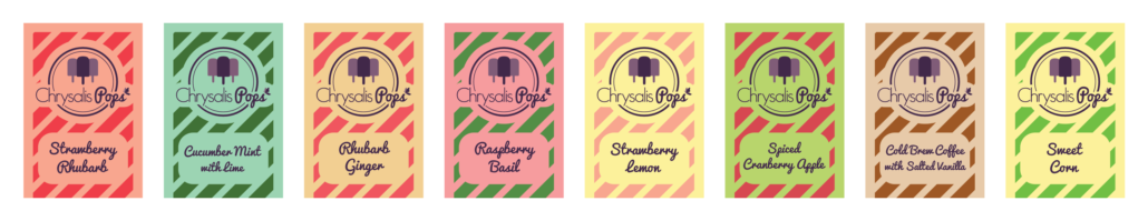 Picture of Chrysalis Pops Flavors Summer 2019